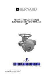 Elektrické pohony BERNARD - řada ST - FLUIDTECHNIK BOHEMIA ...
