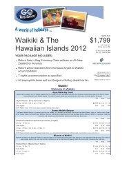 Waikiki & The Hawaiian Islands 2012 - Searle Travel