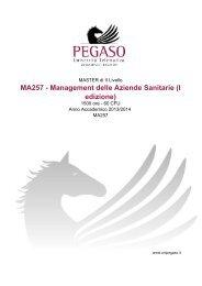 MA257 - Management delle Aziende Sanitarie (I ... - Cesd-onlus.com