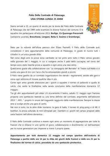 PALIO DELLE CONTRADE DI PALAZZAGO_2013 - L'Eco di Bergamo