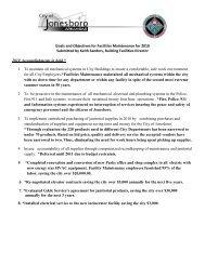 Goals and Objectives for Facilities Maintenance ... - City of Jonesboro