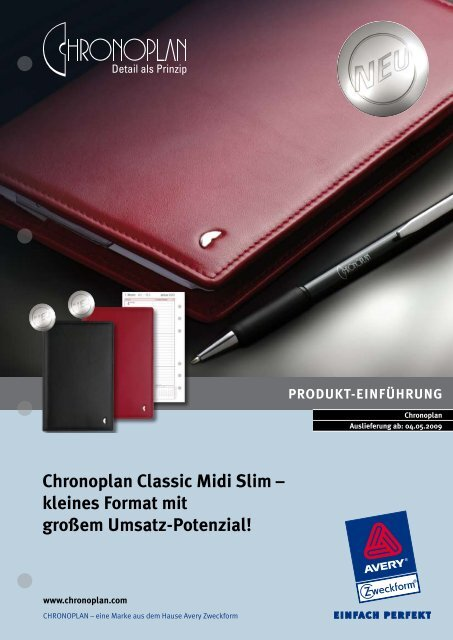 Chronoplan Classic Midi Slim – kleines Format mit großem Umsatz ...
