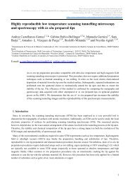 Highly reproducible low temperature scanning tunnelling ... - arXiv