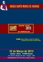 22 de Março de 2013 - Haras Santa Maria de Araras