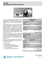 OL 480 Blackbody Calibration Standard