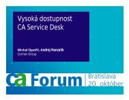 CA Service Desk DB server - caforum.sk
