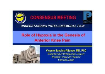 Role of Hypoxia in the Genesis of Anterior Knee Pain