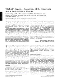 """Hybrid"" Repair of Aneurysms of the Transverse Aortic Arch: Midterm ..."