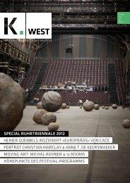 DAS FESTIVAL-PROGRAMM 2012 IN AUSwAHL - K.West