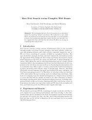 Free-Text Search versus Complex Web Forms - CiteSeerX