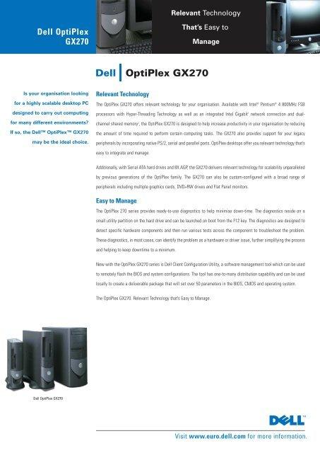 dell optiplex gx270 drivers video