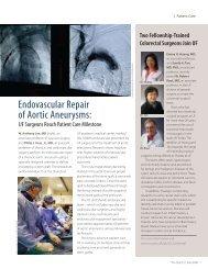 Endovascular Repair of Aortic Aneurysms: - Department of Surgery