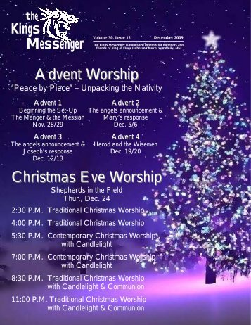 December 2009 newsletter - King of Kings Lutheran Church