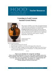 Learning to Look Lesson: Ancient Greek Pottery - Hood Museum of Art
