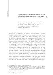 O problema da interpretação do direito e a justiça na perspectiva da ...