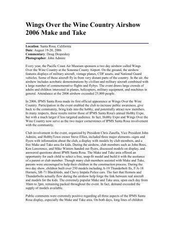 2006 Wings Over Wine Country Model Make and ... - IPMS Santa Rosa