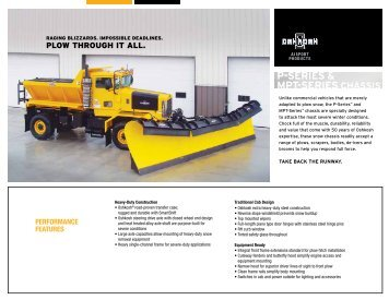 P-Series and MPT-Series Snow Chassis Spec Sheet