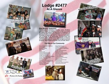 Share the New Lodge Brochure Today - Thousand Oaks Elks Lodge