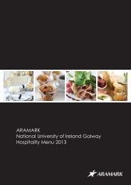 ARAMARK National University of Ireland Galway ... - CampusDish