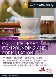 ConteMporAry CoMpounding And ForMulAtion - Health Sciences ...