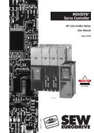 MOVIDYN® Servo Controller AFI 11A INTERBUS ... - SEW Eurodrive