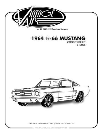 1964 1/2-66 MUSTANG - Vintage Air