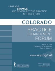 PRACTICE - Colorado Academy of Family Physicians