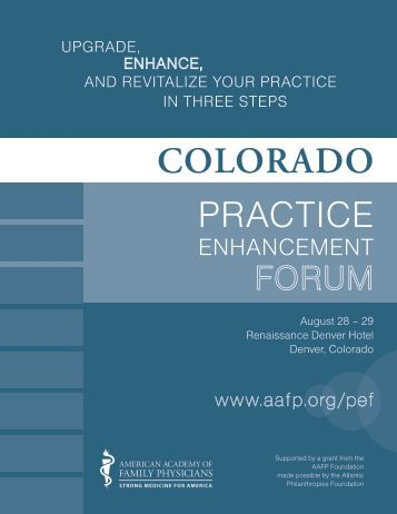 PRACTICE - Colorado Academy of Family Physicians