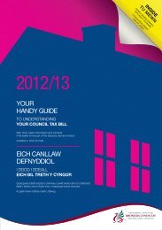 Council Tax Booklet 2012-13 - Rhondda Cynon Taf