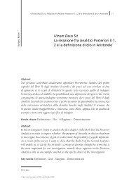 Utrum Deus Sit La relazione fra Analitici Posteriori II 1, 2 e la ...