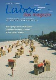Herbstprogramm der VHS Laboe ... - bei Laboe - das Magazin