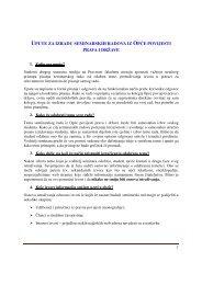 Upute za izradu seminarskog rada - Pravni Fakultet Osijek