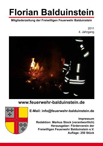 Download der Zeitung 2011 - Freiwillige Feuerwehr Balduinstein