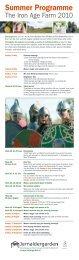 sommerprogram for Jernaldergarden
