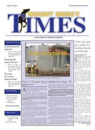 Orientation Issue - Mount Mercy Times - Mount Mercy University