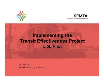 Implementing the Transit Effectiveness Project - Streetsblog San ...