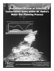 Preliminary Review of Fisheries Conservation Gains within BC ...