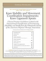 Knee Stability and Movement Coordination Impairments ... - JOSPT