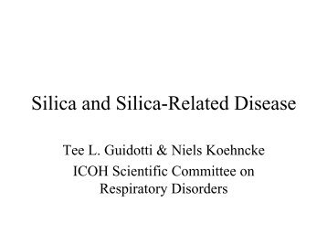 role of silicosis in silica associated lung cancer [silicosis and lung cancer] as the most common histological types of lung cancer with silicosis were squamous cell silica alone is not.