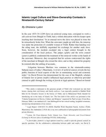 Islamic Legal Culture