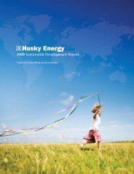 2009 Sustainability Report - Husky Energy