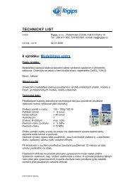 TL- Modelářská sádra - Rigips