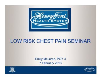 low risk chest pain guidelines