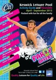 Keswick Leisure Pool programme April to September 2013 in PDF ...