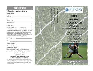 Pingry Soccer Camp (August) Brochure Pages 1& 2 ... - Pingry School