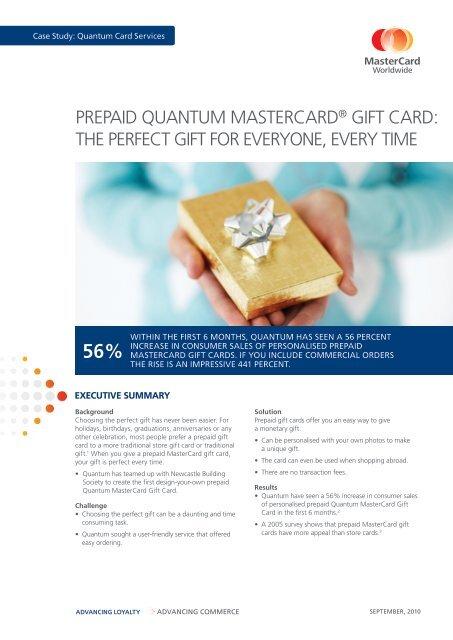 Prepaid Quantum Mastercard Gift Card The Perfect