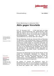 Erster Medientag im Jobcenter Köln: Aktiv gegen Vorurteile