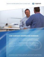 CAM Candidate Information Handbook (PDF) - NBAA