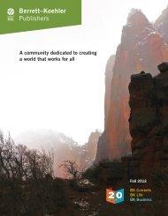 Download Our Fall 2012 Catalog PDF - Berrett-Koehler Publishers