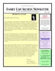 FAMILY LAW SECTION NEWSLETTER - Dallas Bar Association